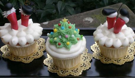 cupcake a forma di albero di natale