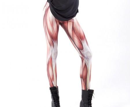 leggins con disegno dei muscoli