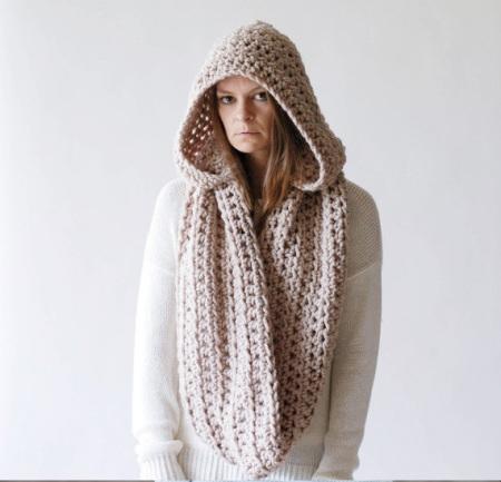 sciarpa loop lana grande